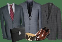 スーツと小物