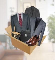 スーツを梱包